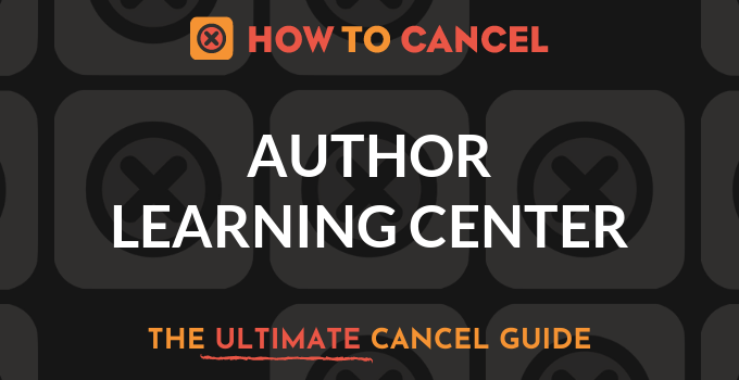 How to Cancel Author Learning Center
