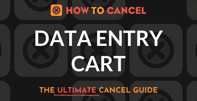 How to Cancel Data Entry Cart