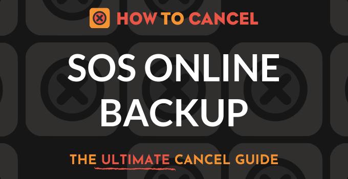 How to Cancel SOS Online Backup